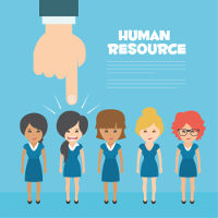 human resources lining up female employees